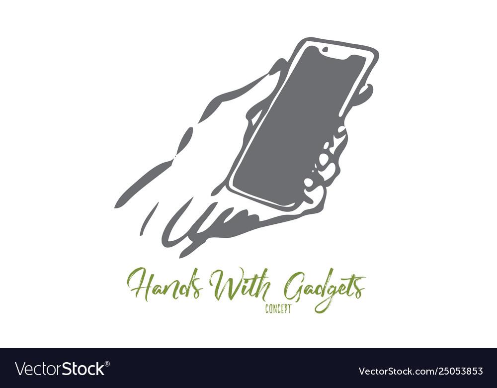 Phone screen mobile hand device digital