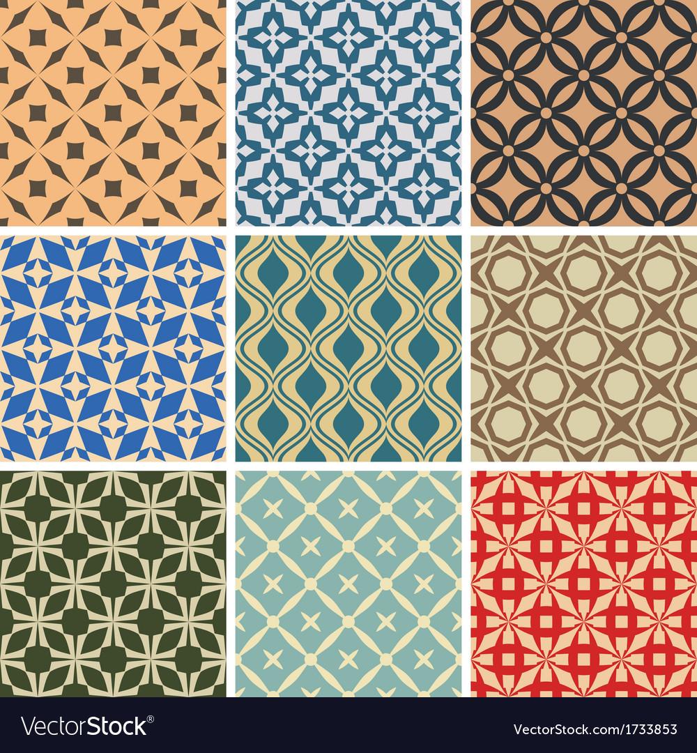 Seamless ornament patterns
