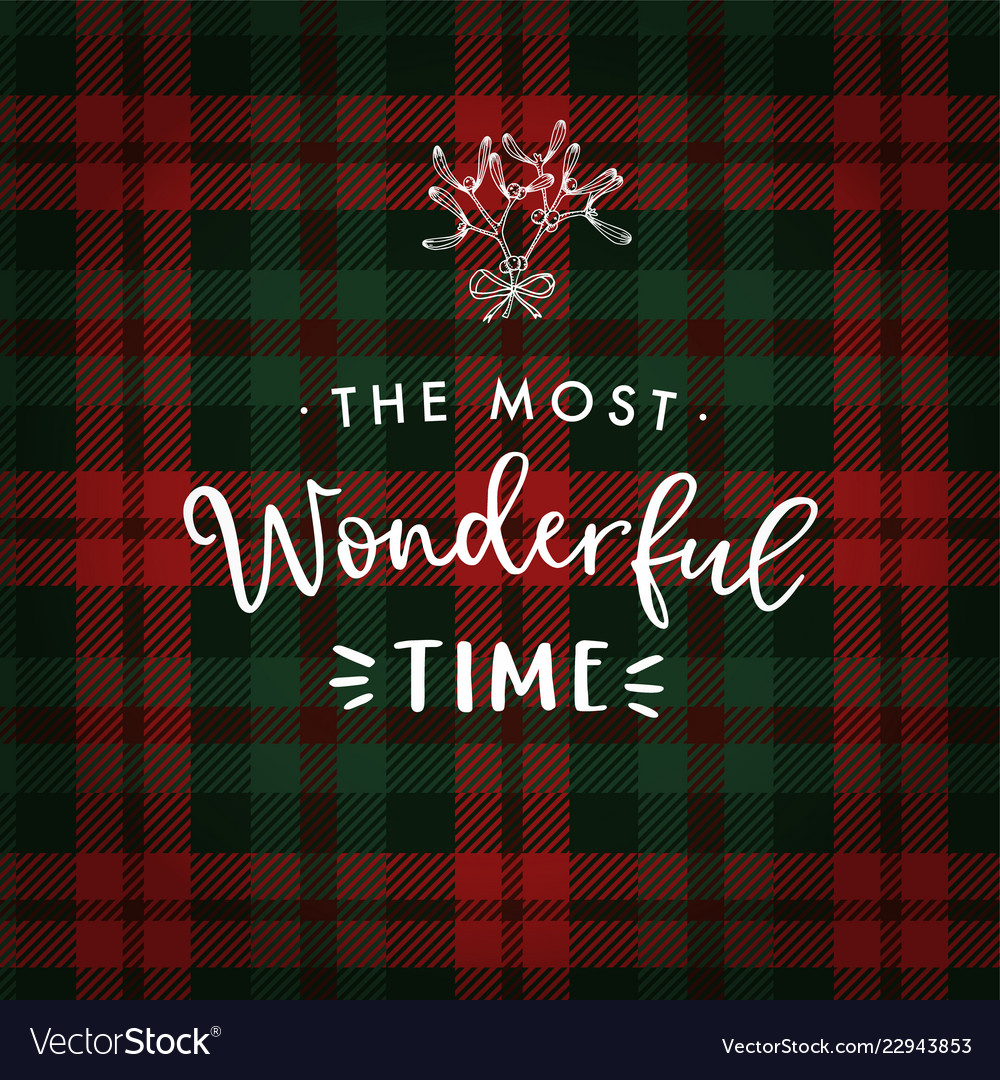The most wonderful time christmas greeting card