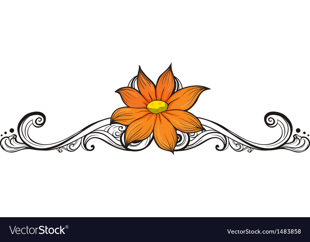 A simple flower border Royalty Free Vector Image