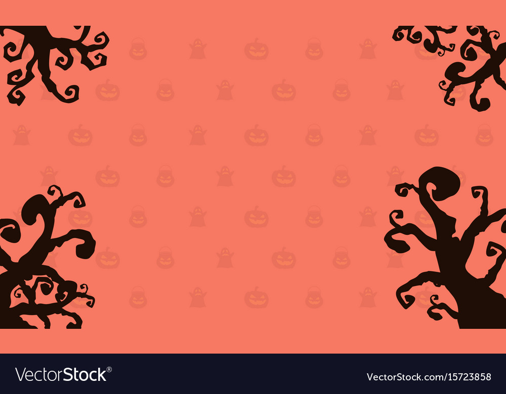 Background style halloween card vector image