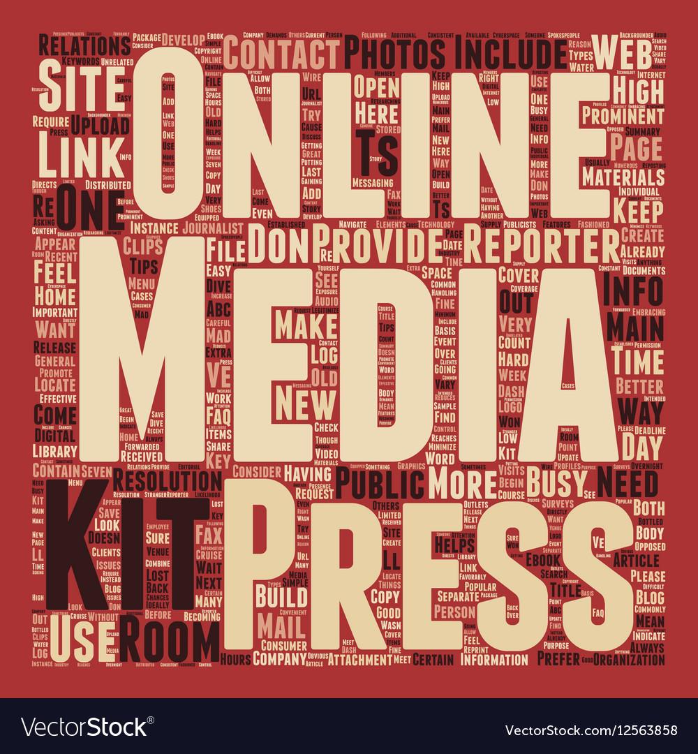 Build a Better Online Press Kit text background