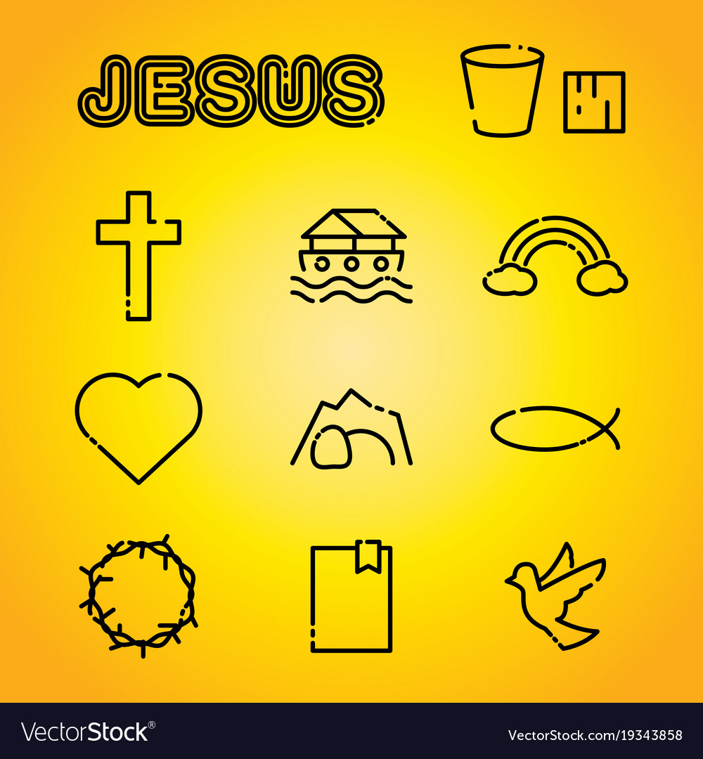 Christian faith religion icons