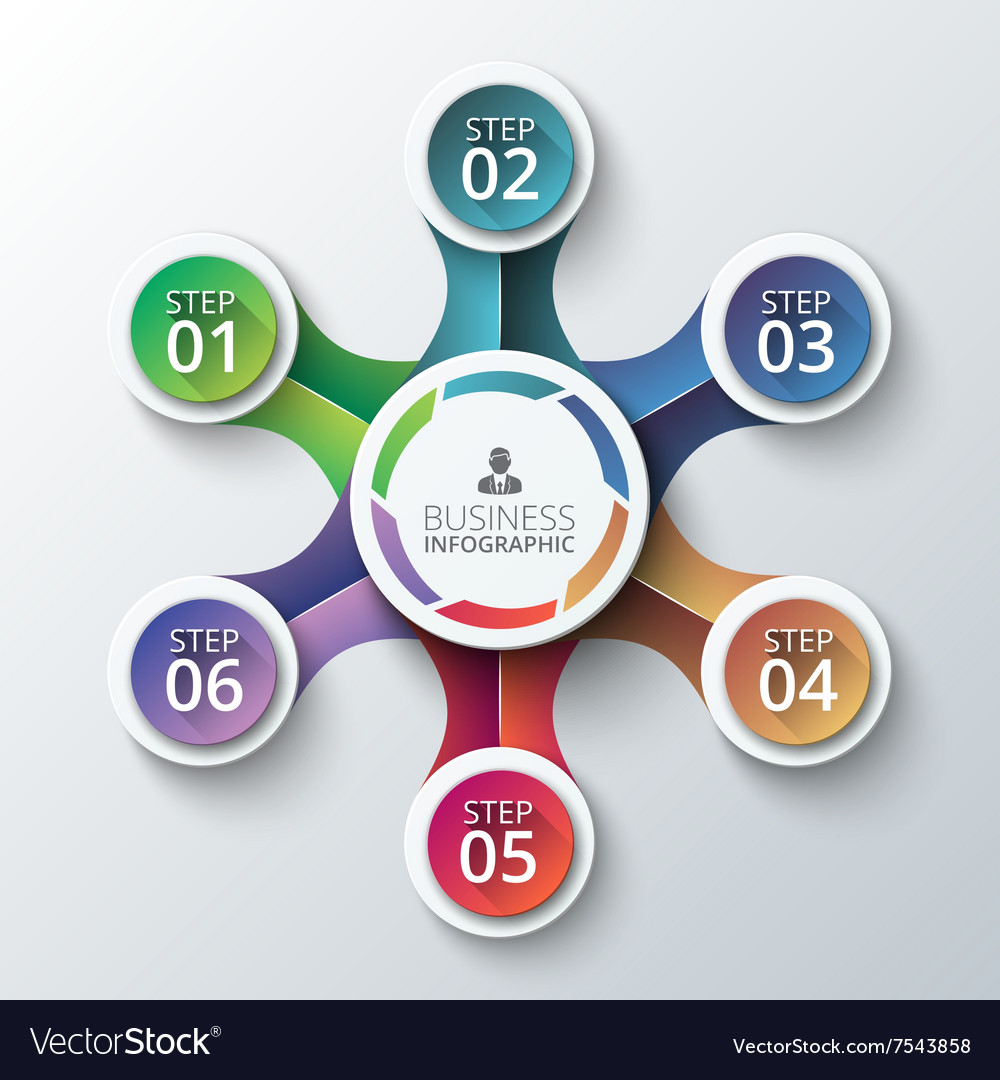 Circle element for infographic