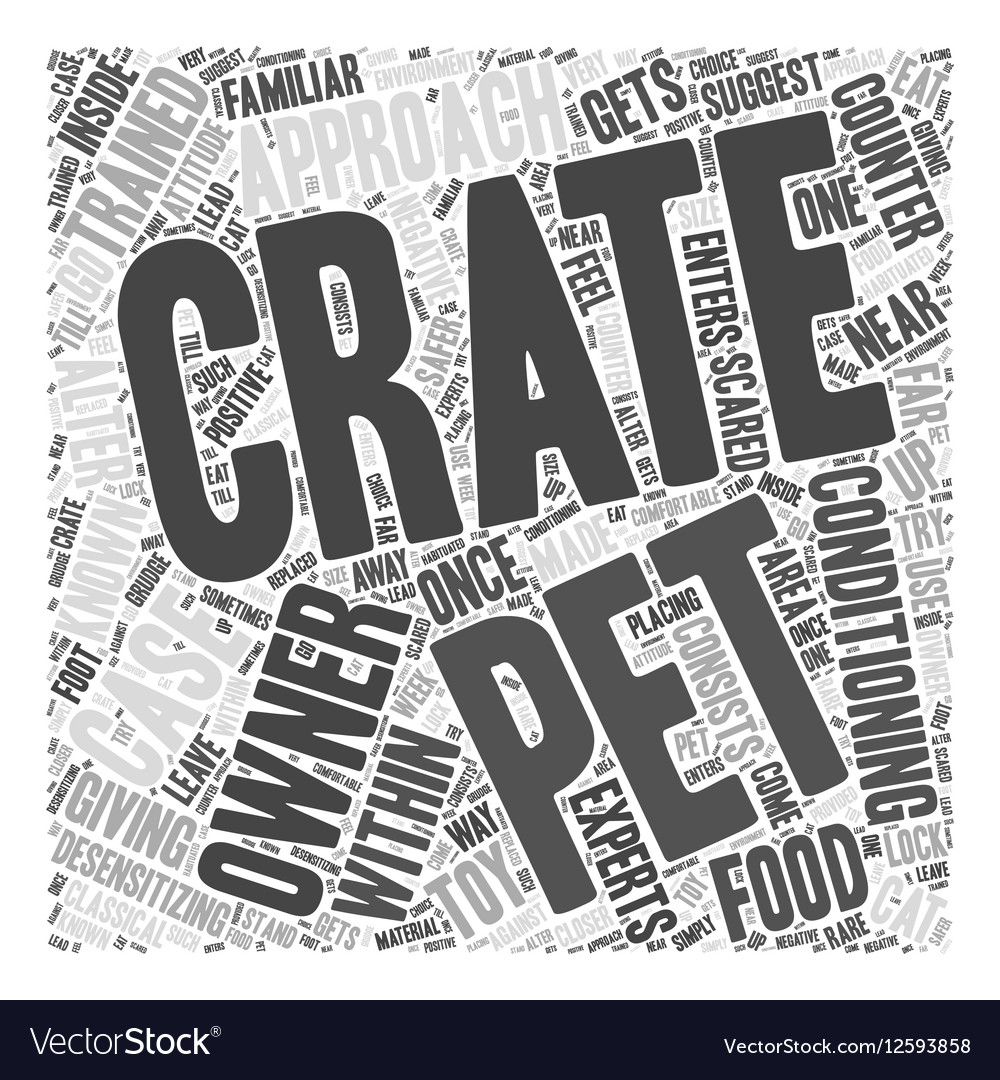 Giving Crate Training to Pets Word Cloud Concept