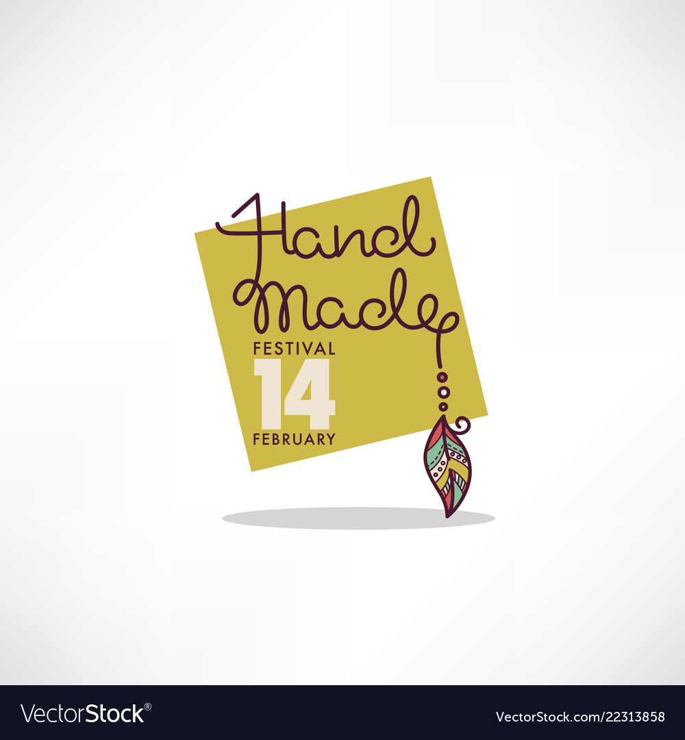 Handmade art festival hand drawn doodle logo