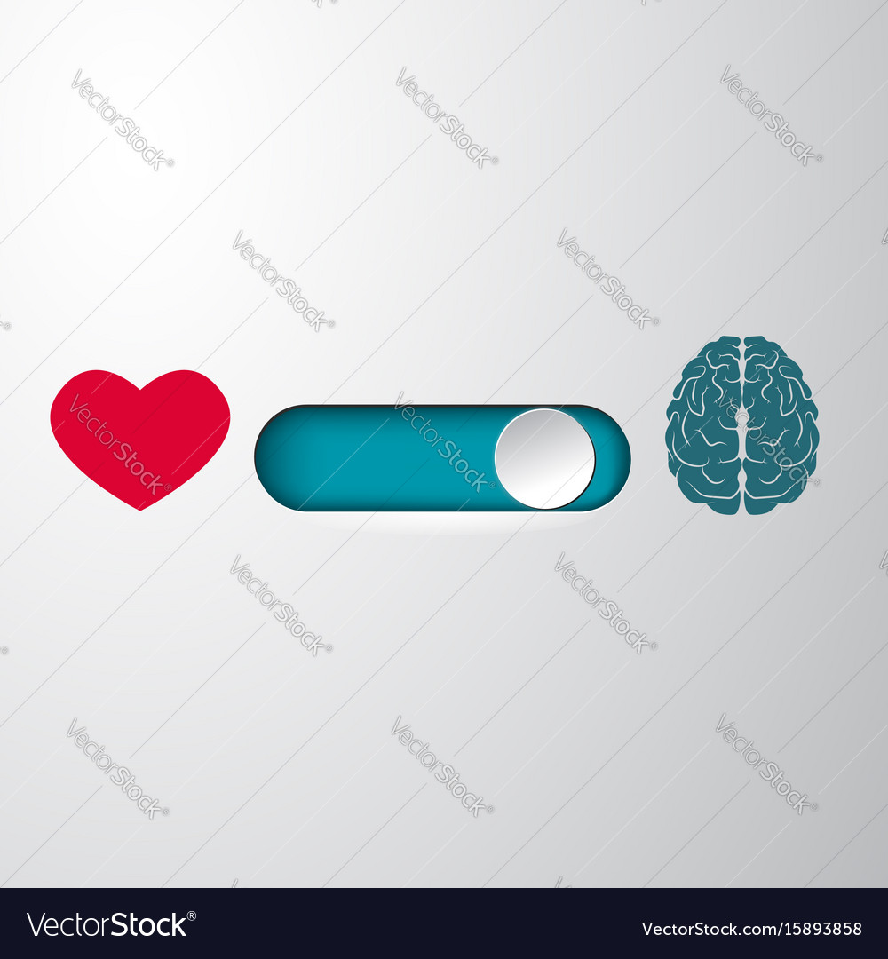 Heart and brain selection button