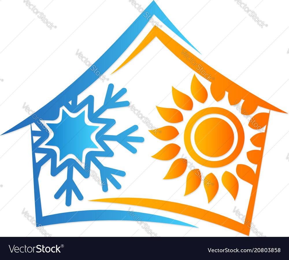 House sun and snowflake symbol