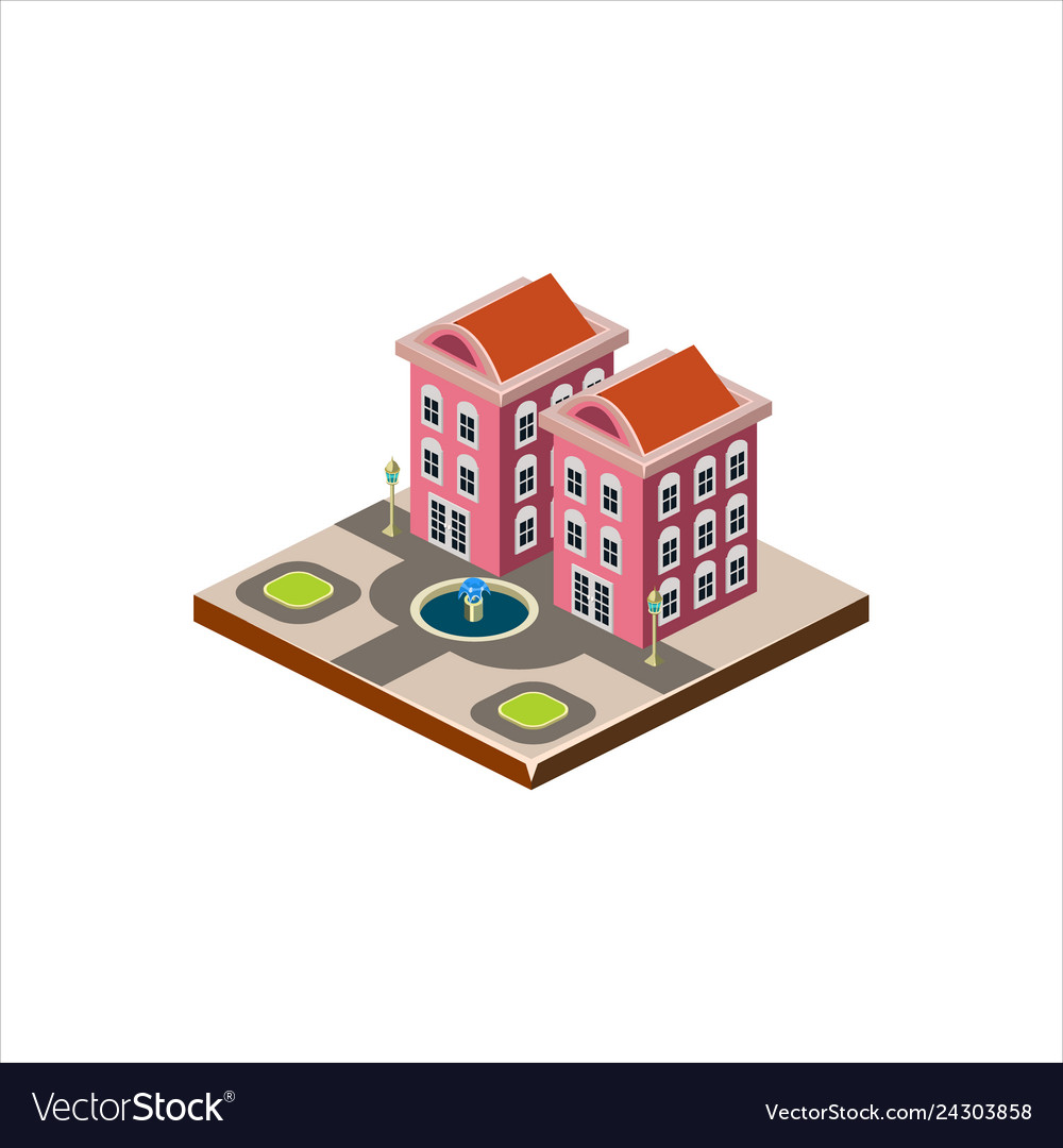 Isometric icon representing modern house