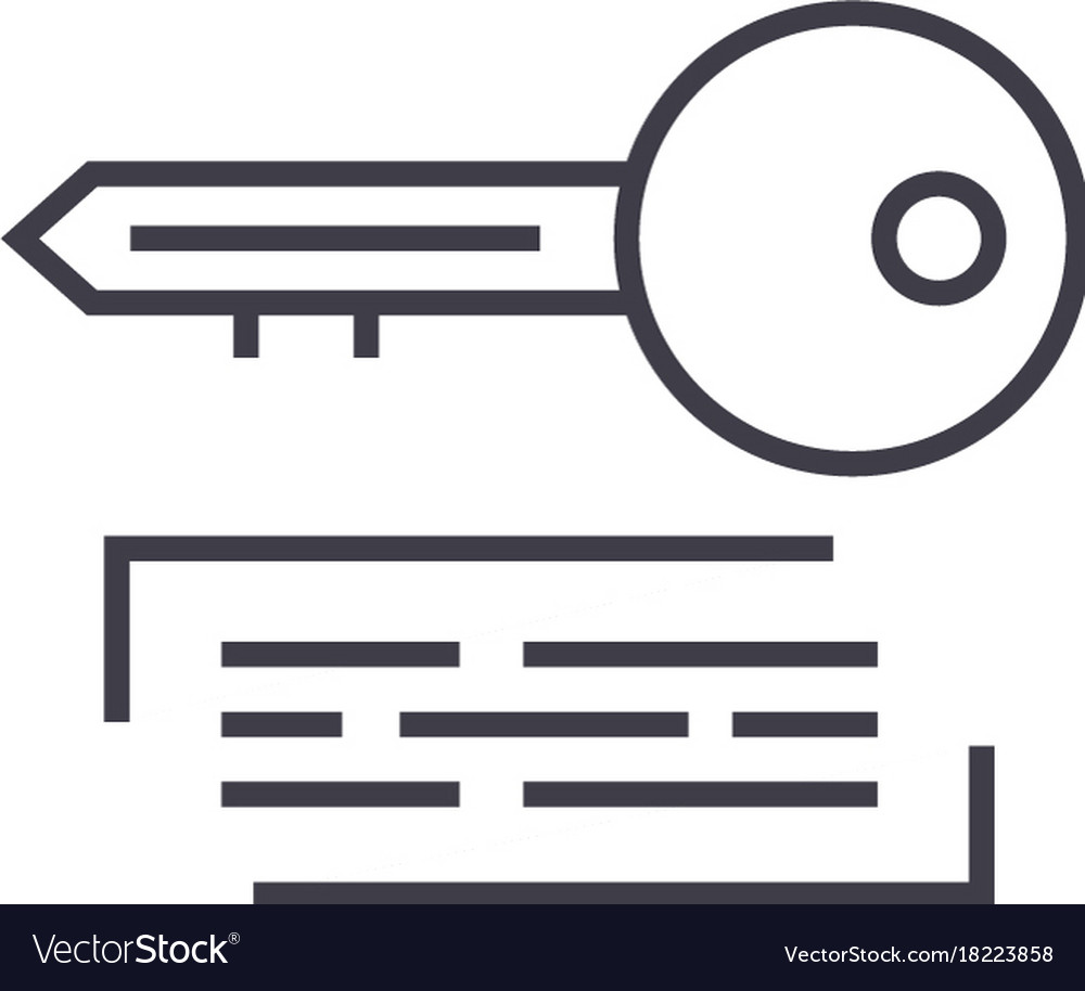 Marketing keywording linear icon sign symbol