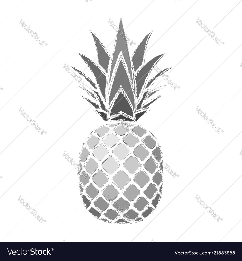 Pineapple grunge with leaf tropical exotic fruit