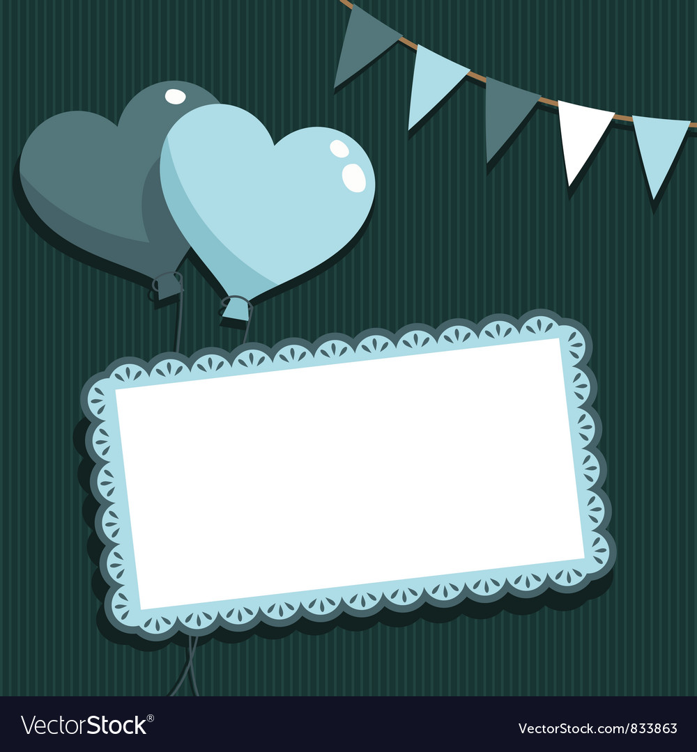 Blue party card vector image