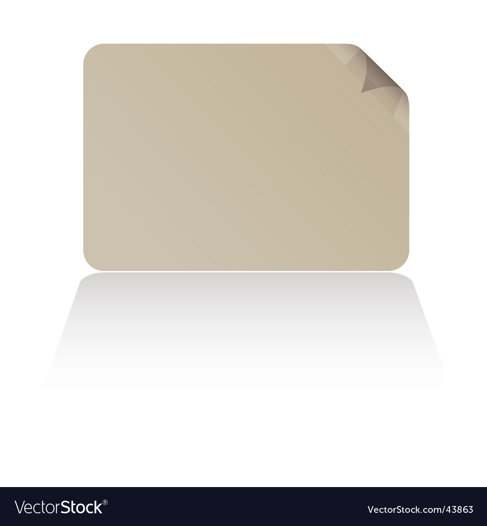 Business card shadow vector image