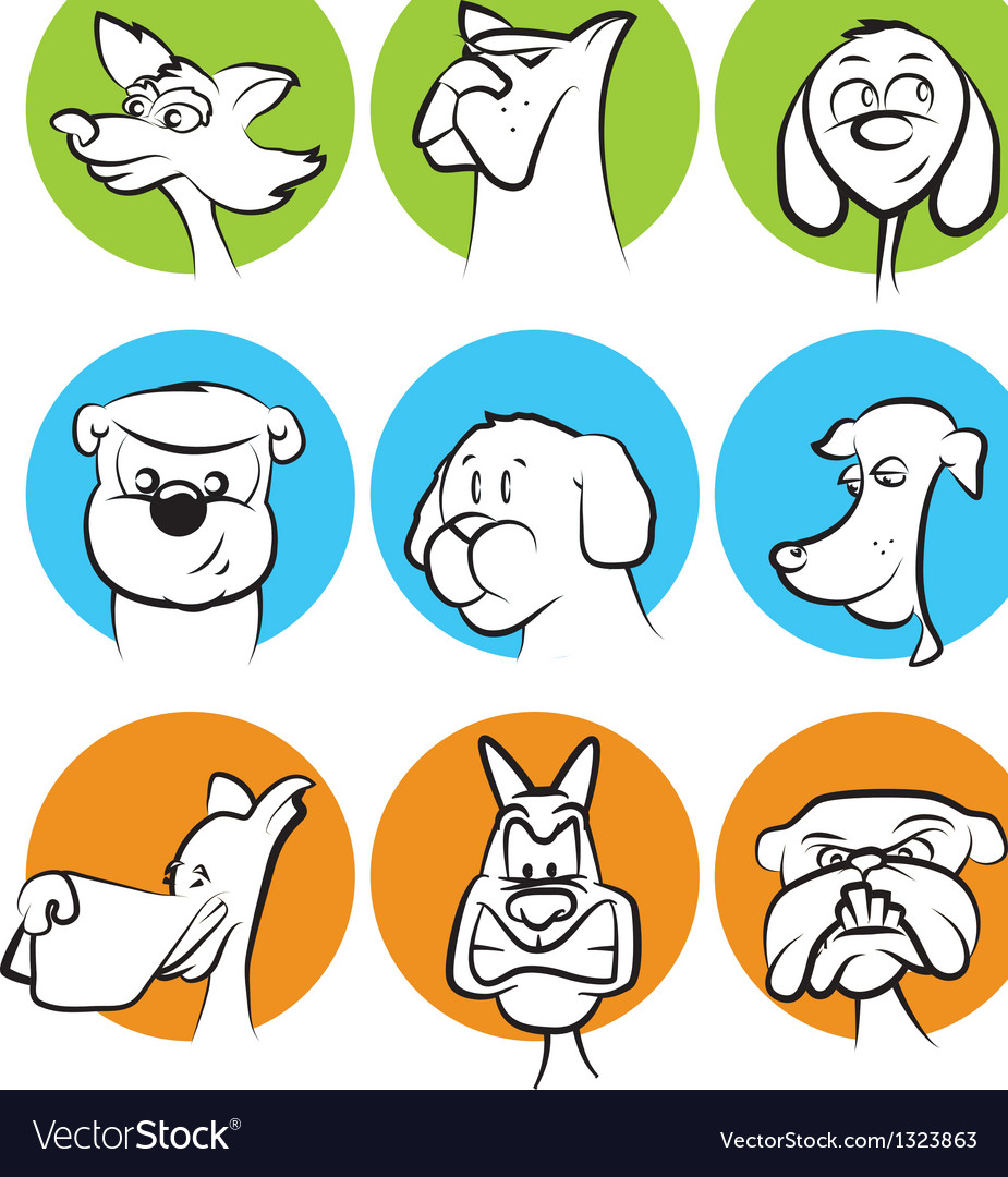 Dog Characters Set