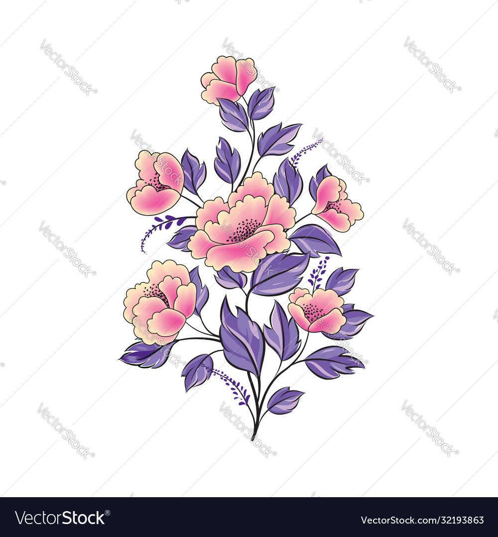 Floral background flower rose bouquet isolated
