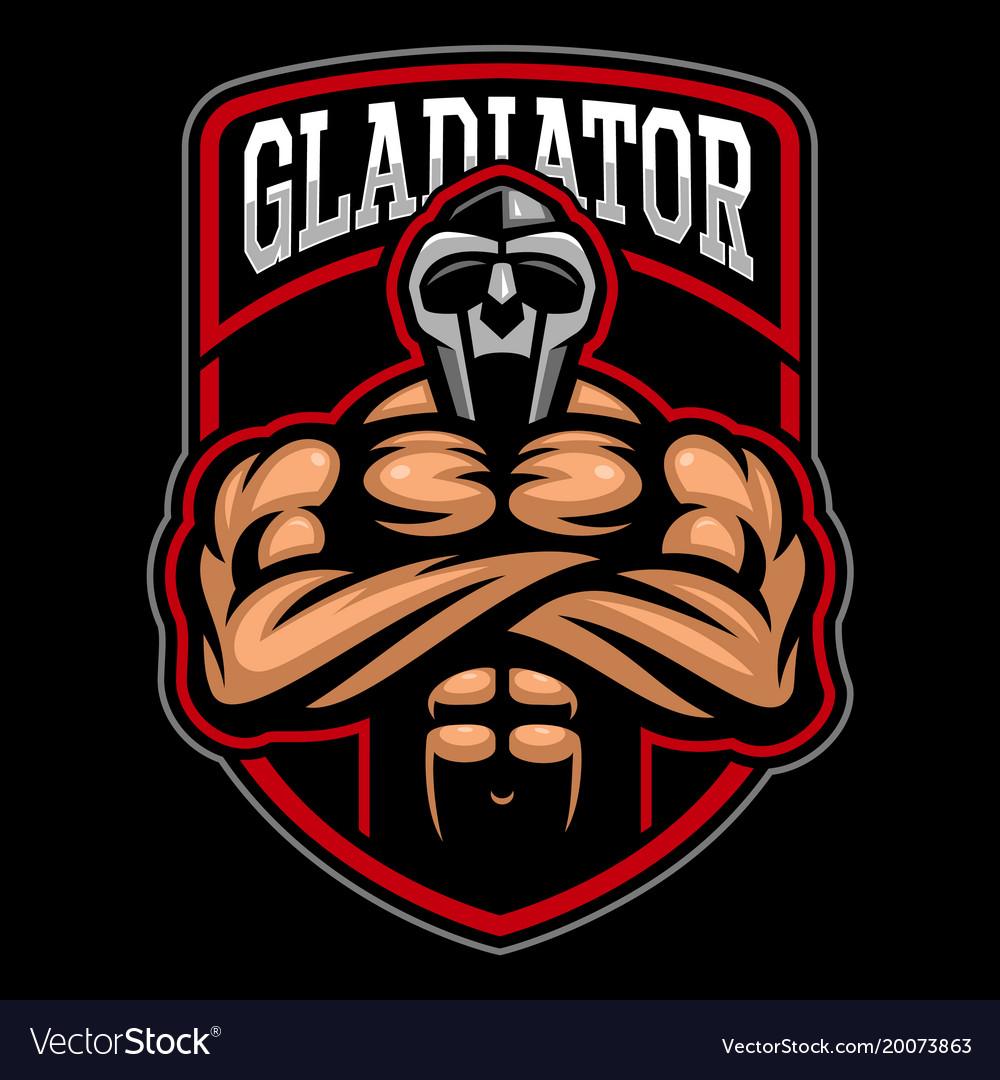 gladiator logo design royalty free vector image rh vectorstock com gladiator mascot costume gladiator locomotives for sale