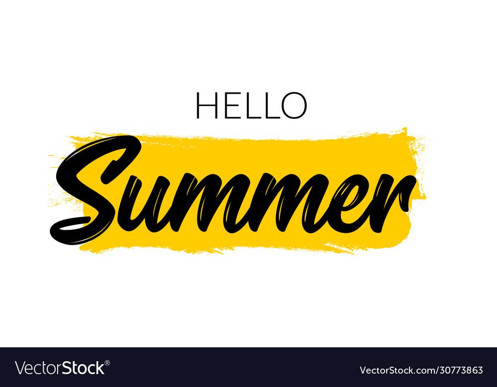 Hello summer letter logo template summer