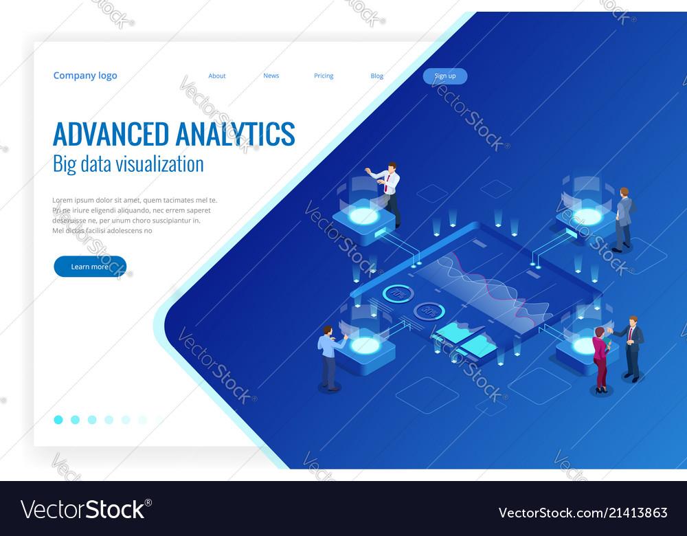 Isometric big data network visualization advanced