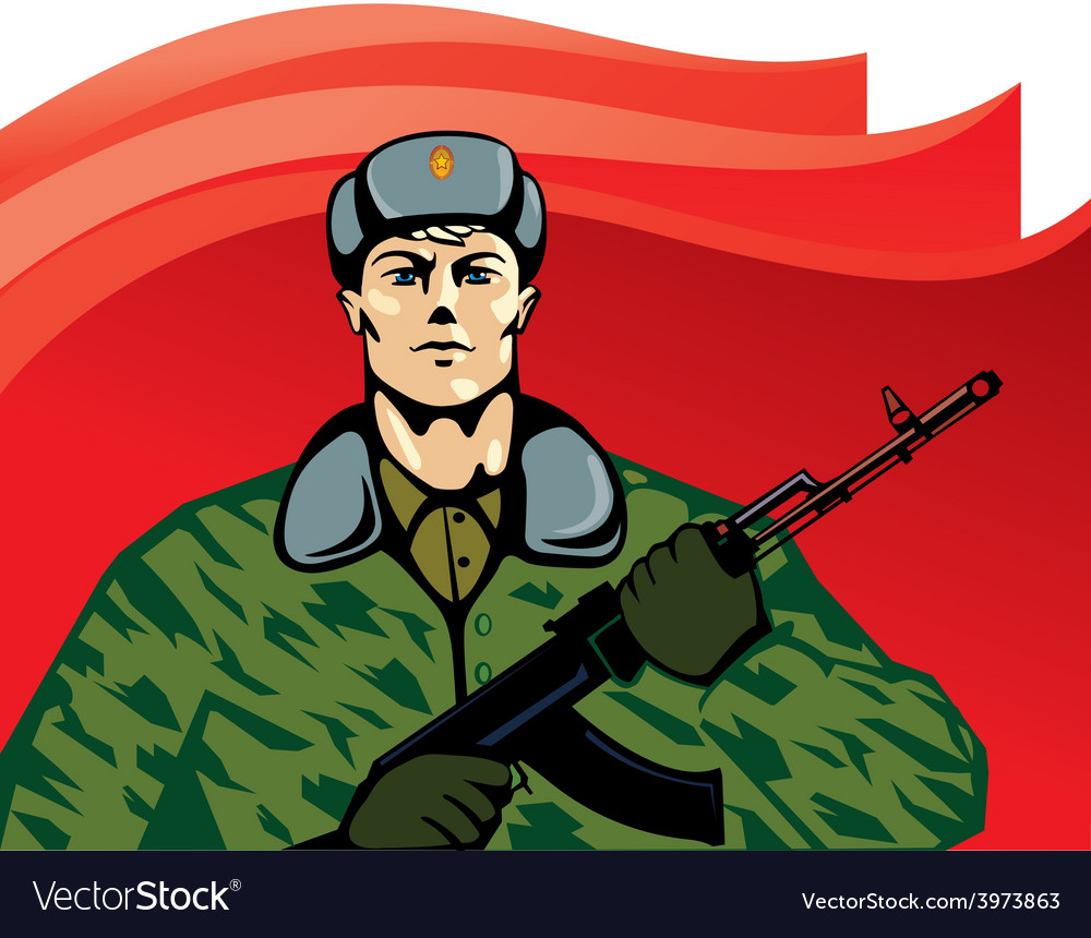 Russian soldier cartoon
