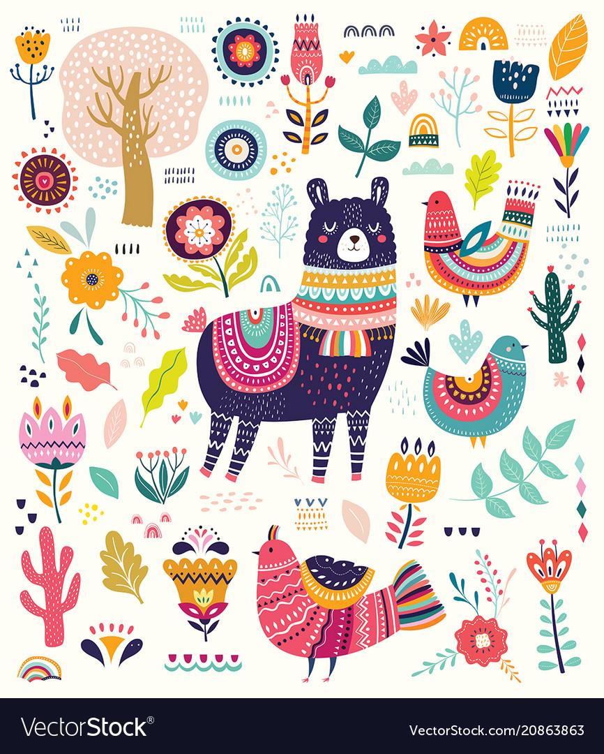 Set with llama
