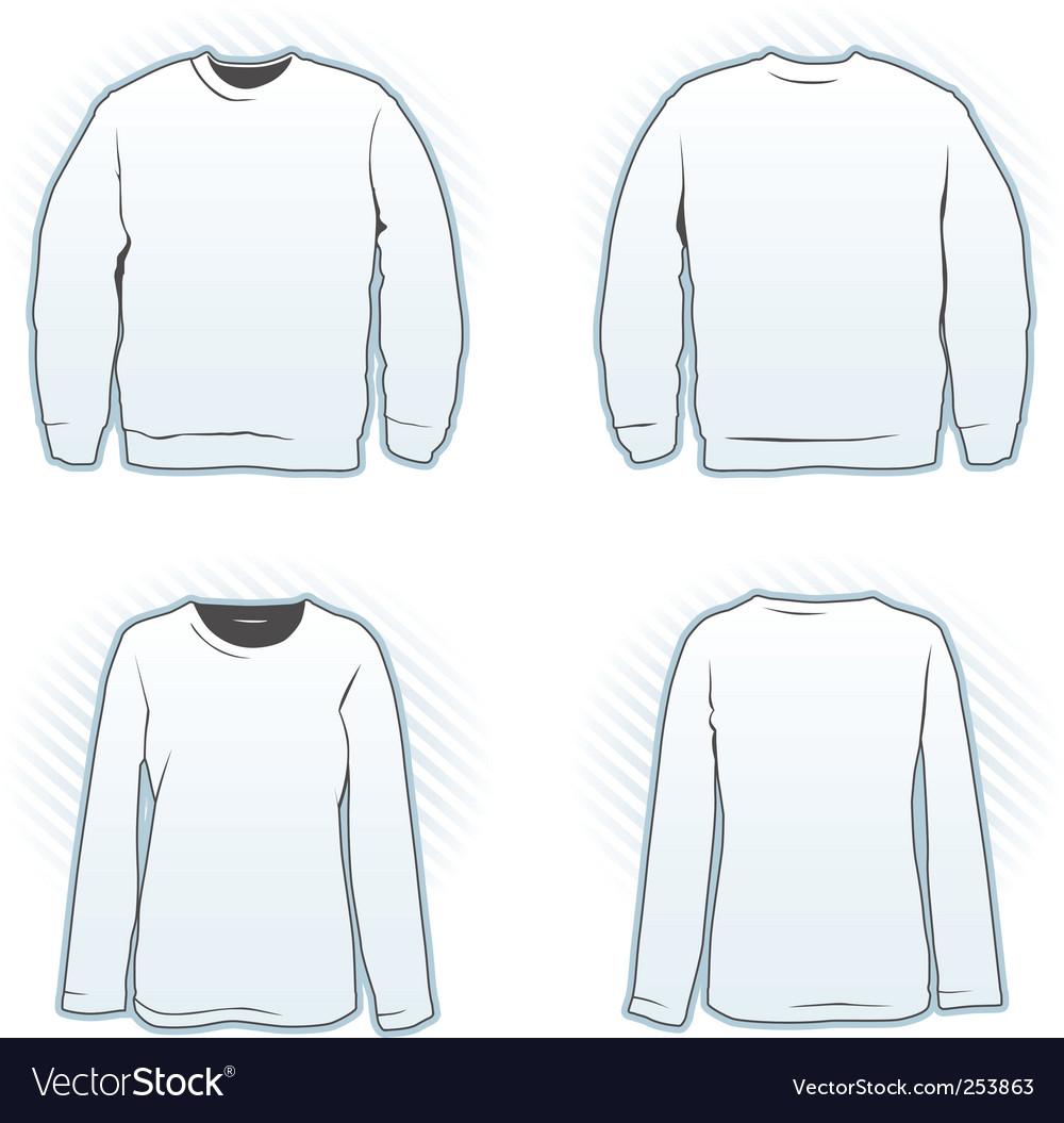 sweatshirt vector template. Sweatshirt Design Template Set