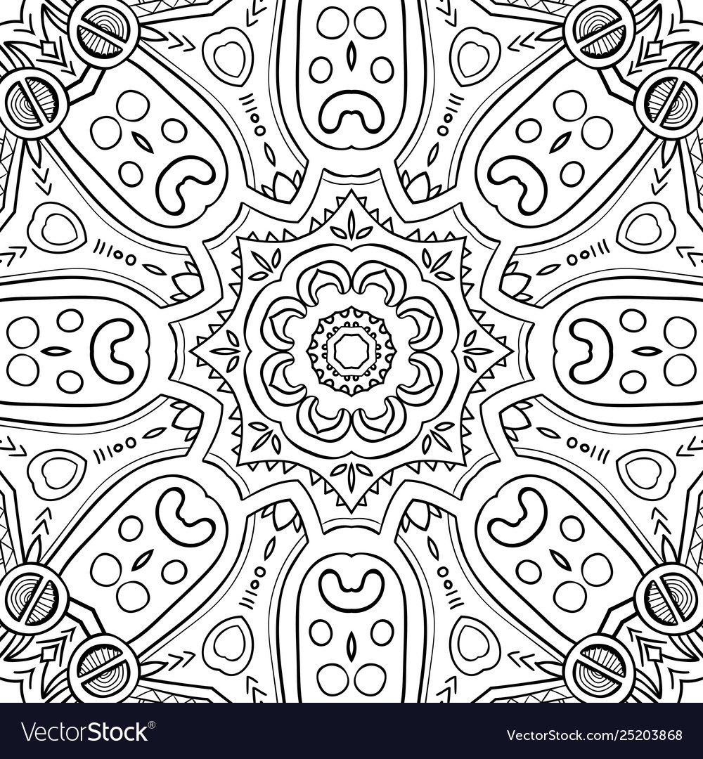 Abstract hand-drawn mandala-01