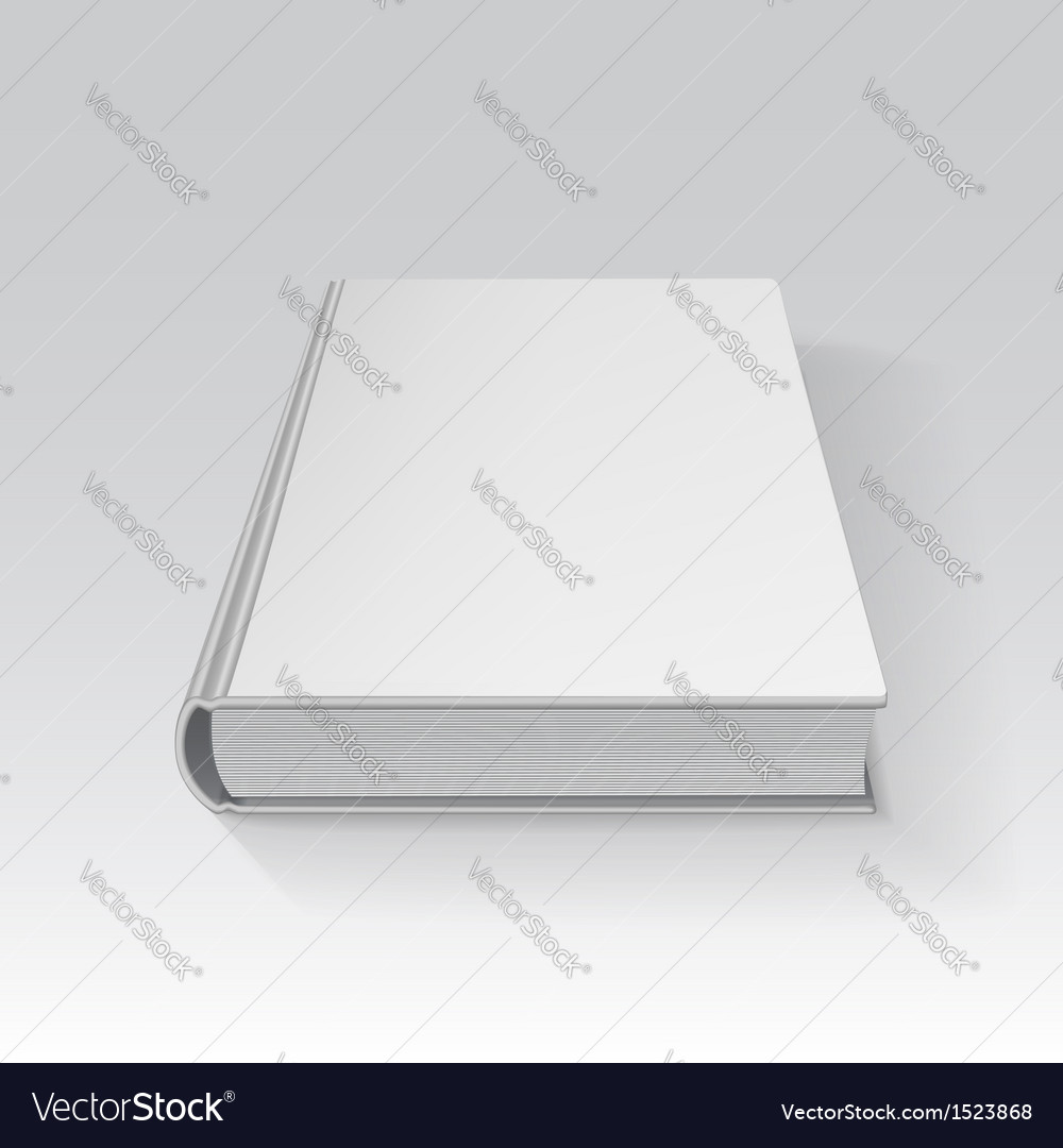 blank book drawn in perspective with gradient mesh