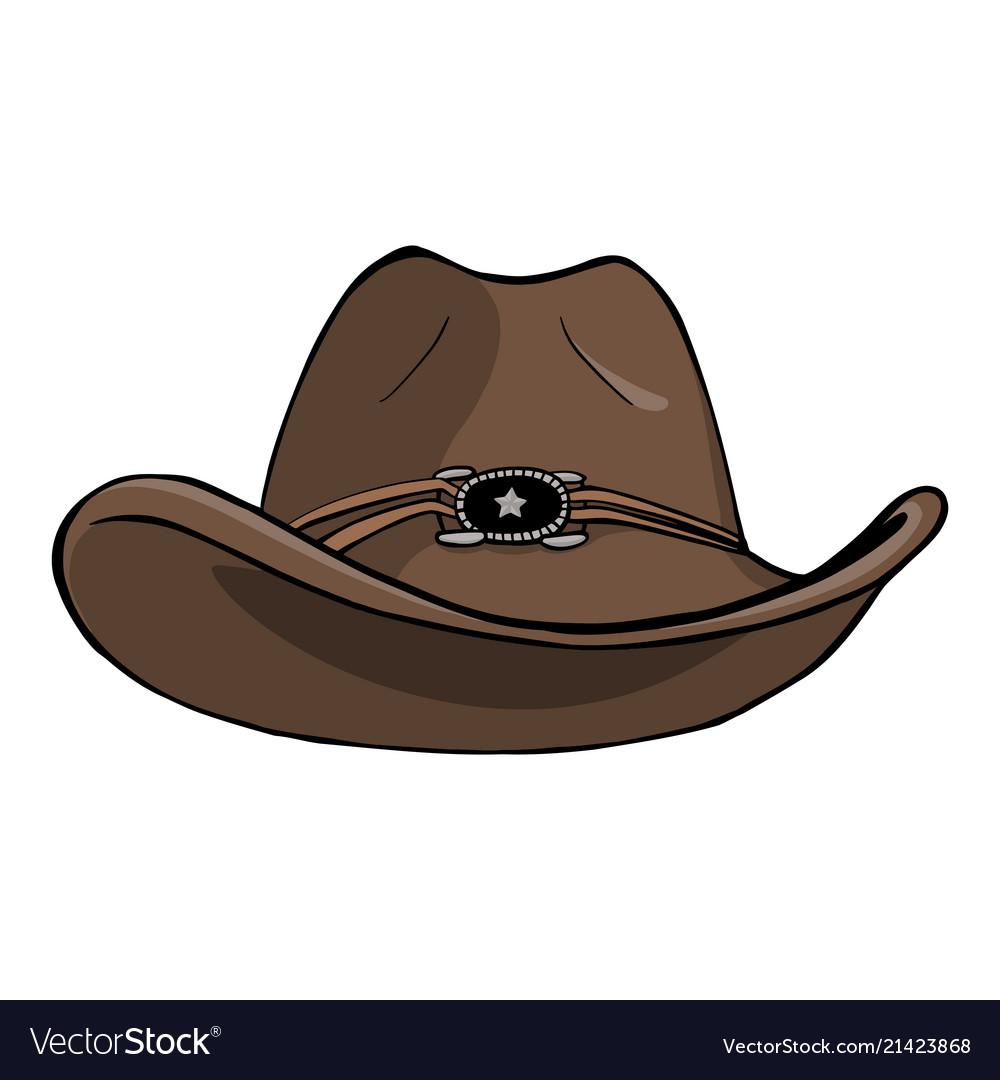 Cowboy hat - vintage engraved