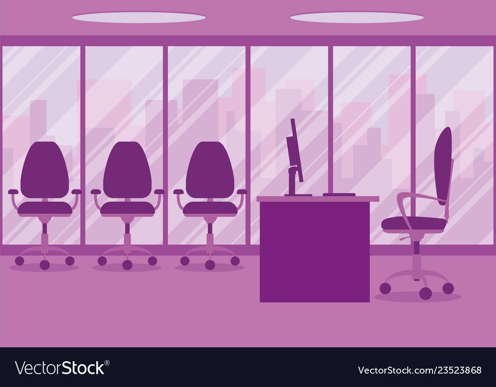 Design of a modern office designer workplace in