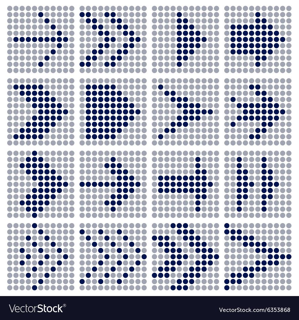 Dots mosaic arrows