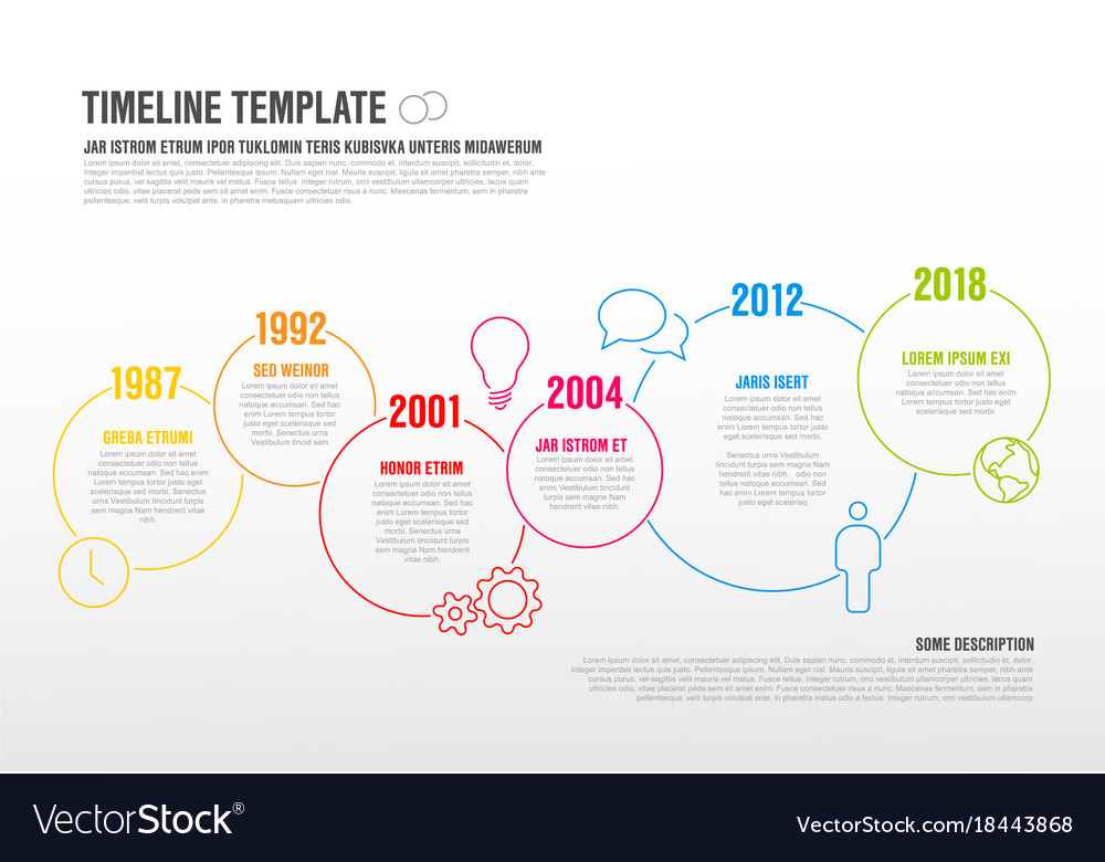 Infographic Timeline Template Royalty Free Vector Image