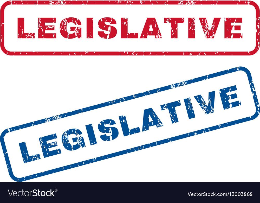 Legislative Rubber Stamps vector image