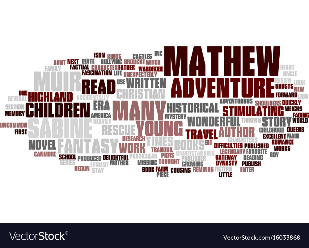 Mathew and the highland rescue book review text vector image