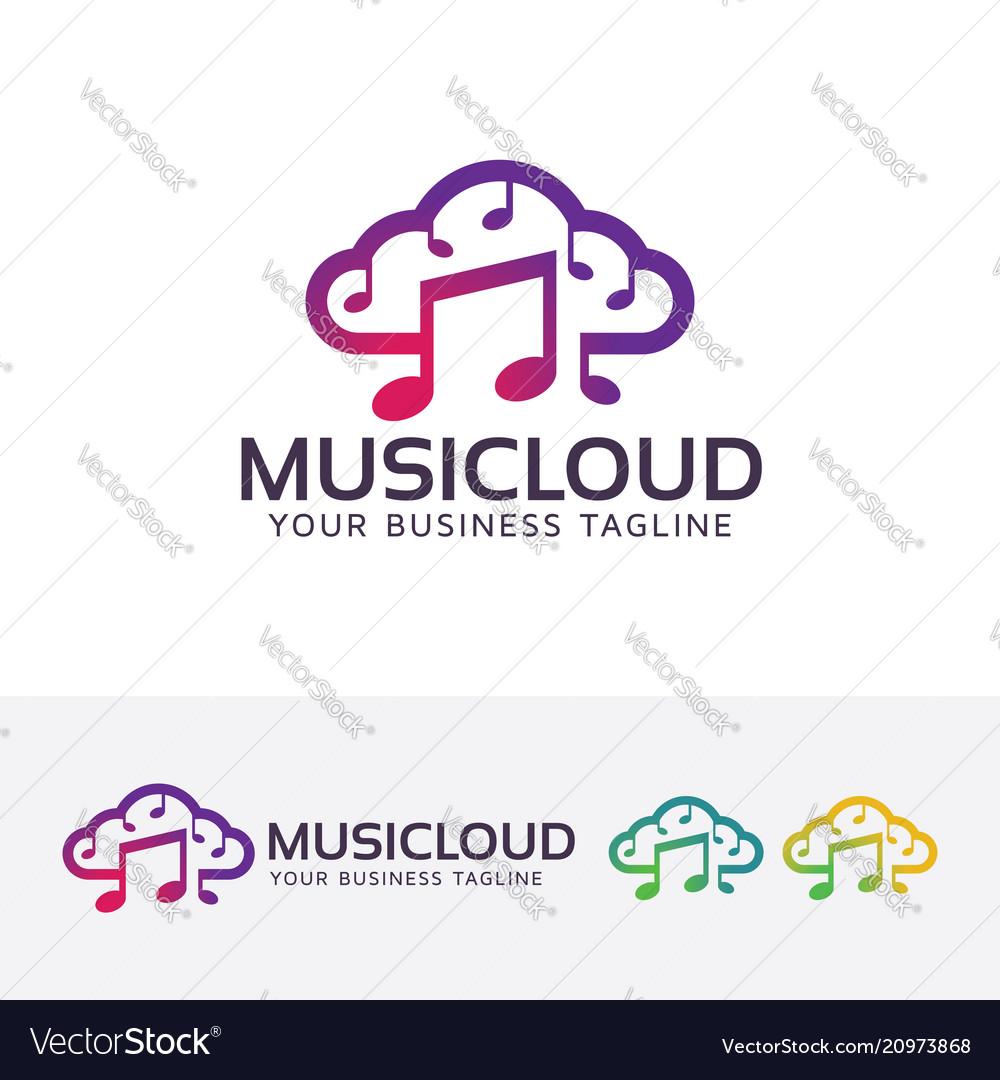 Music cloud logo design