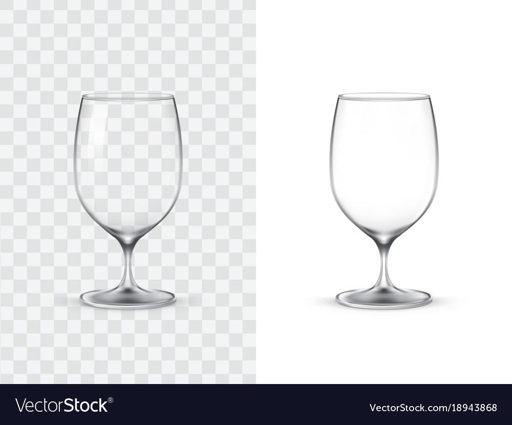 Realistic wine glasses