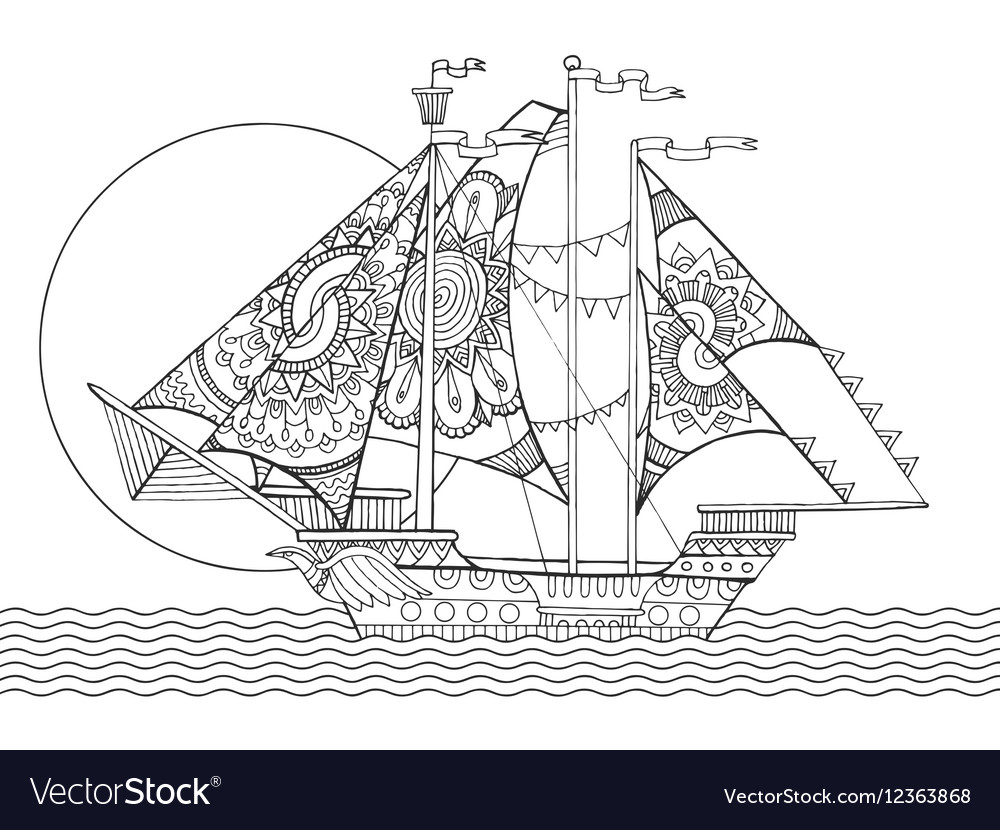 7600 Coloring Book Pictures Boat Picture HD