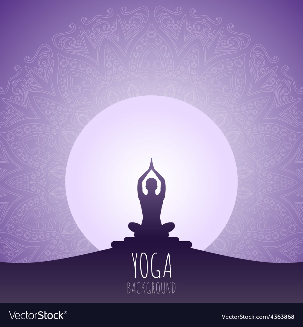 Yoga Background Royalty Free Vector Image Vectorstock