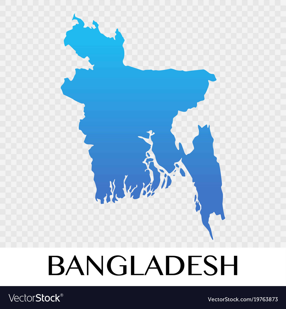 Bangladesh map in asia continent design Royalty Free Vector