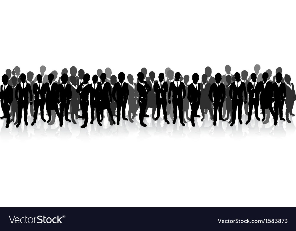 Business people in a row