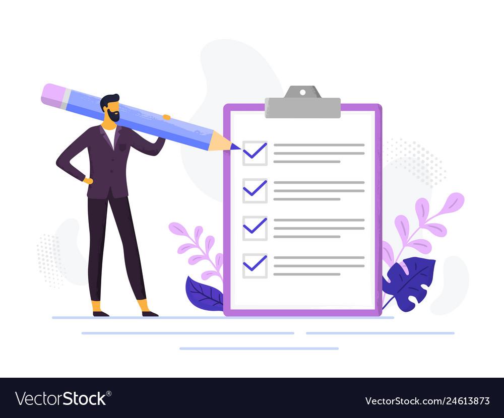 Businessman checklist control business checklists