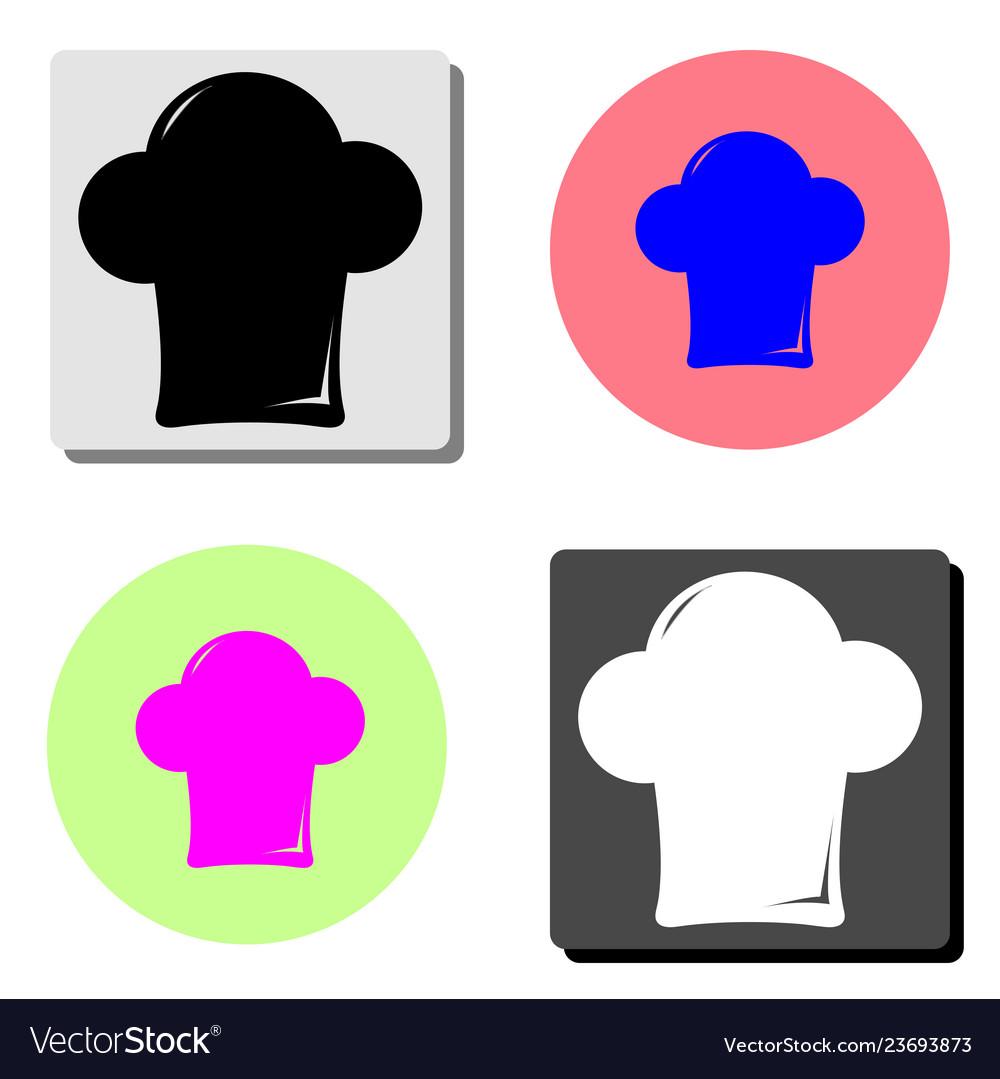 Chef cap flat icon