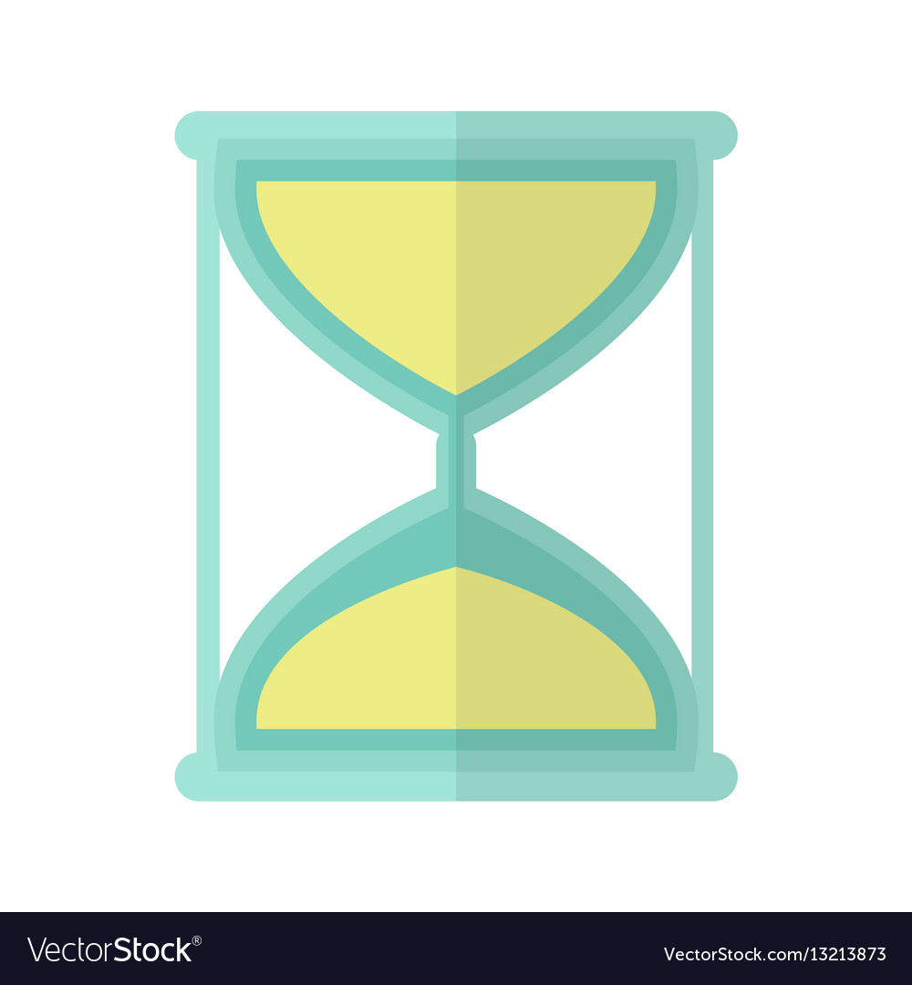 Hourglass icon in flat vector image