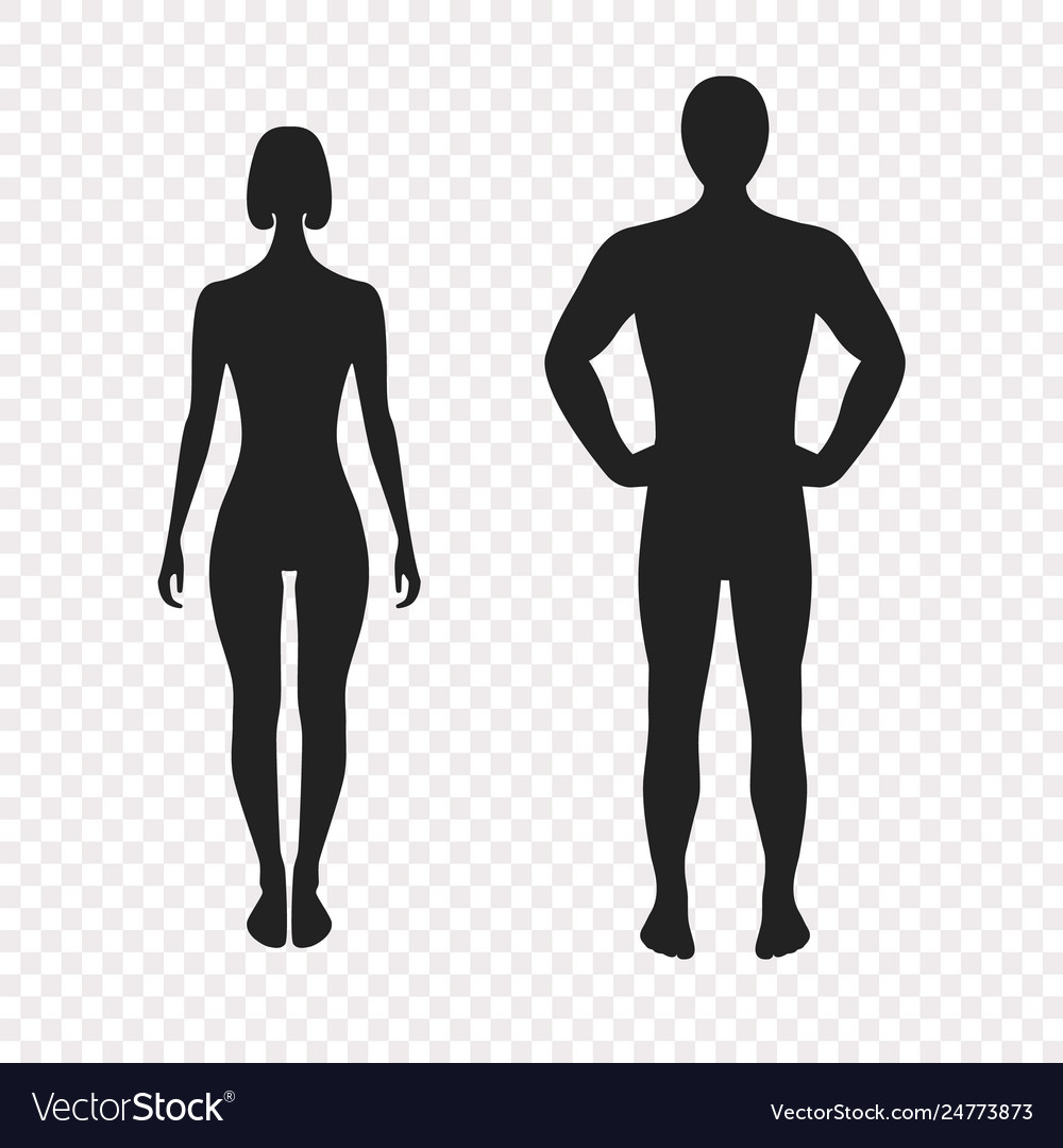 Human silhouettes full face vector