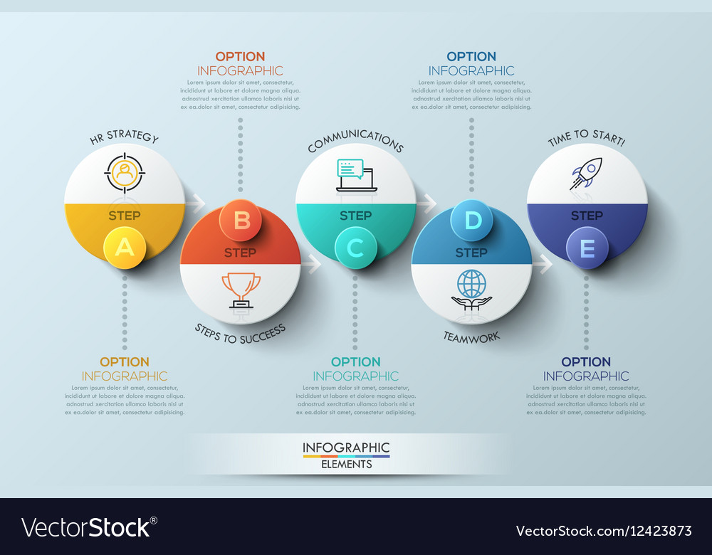 Infographic design template with circular elements