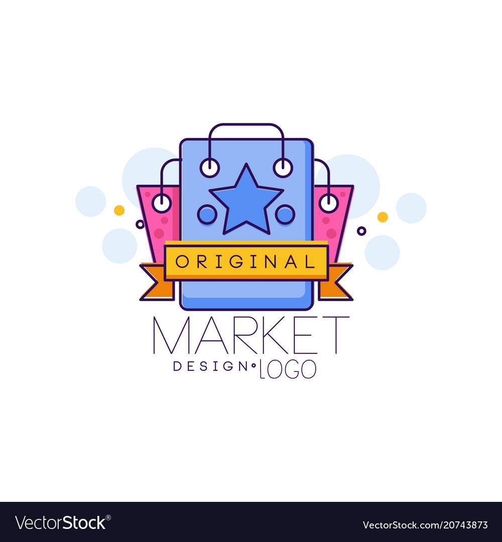 Market design logo bright sale badge design