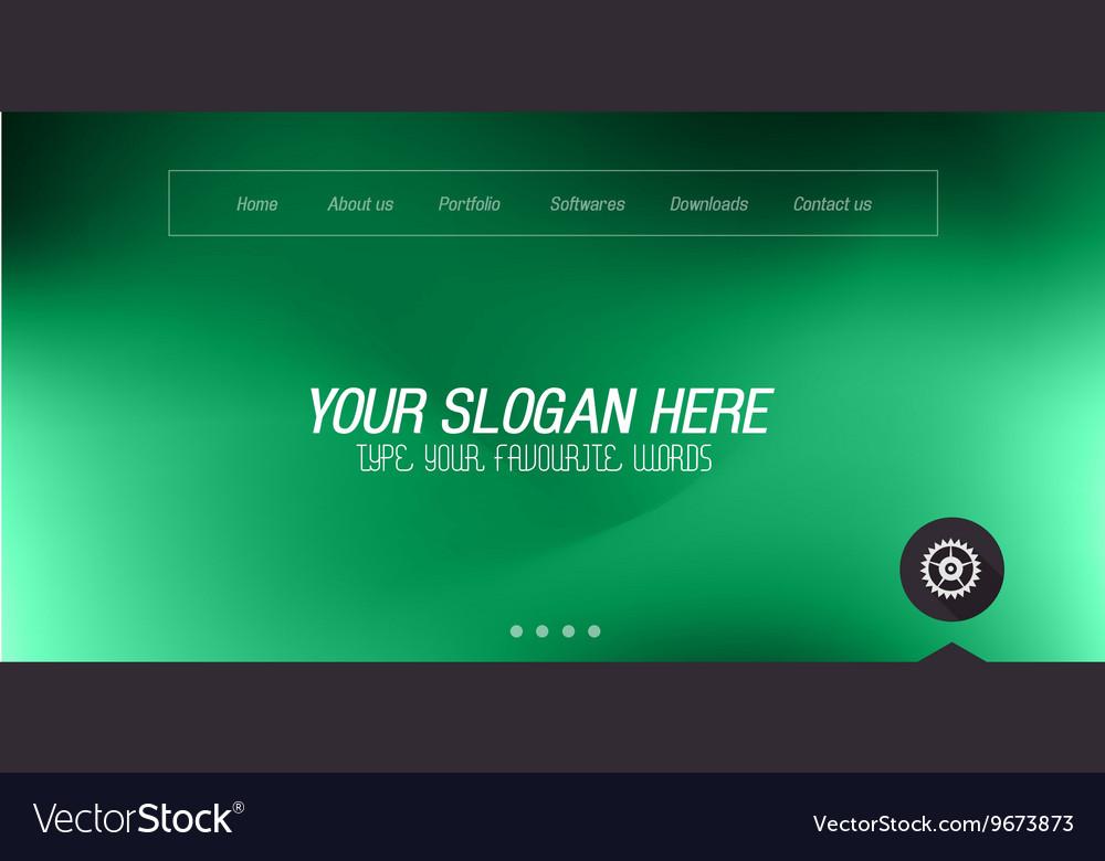 Minimal Website Home Page Design with Slider