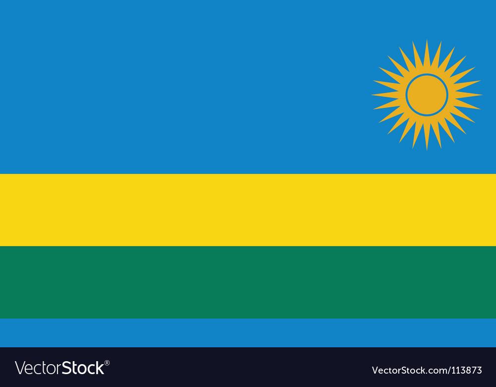 Rwanda flag vector image