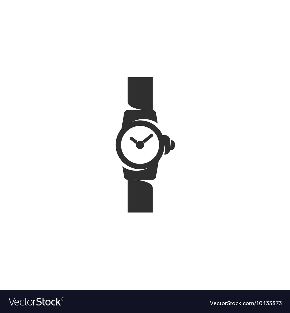 Watch icon isolated on a white background vector image
