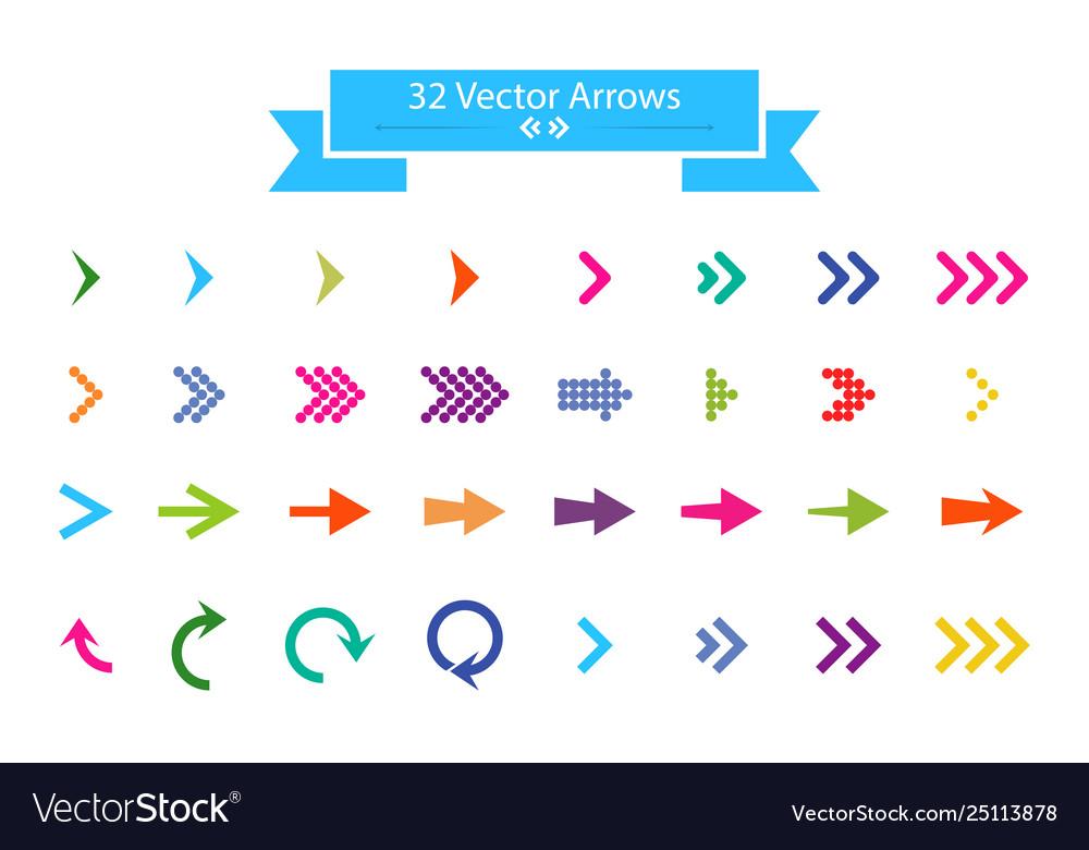 Arrows set arrow icon arrow colorful colored icon