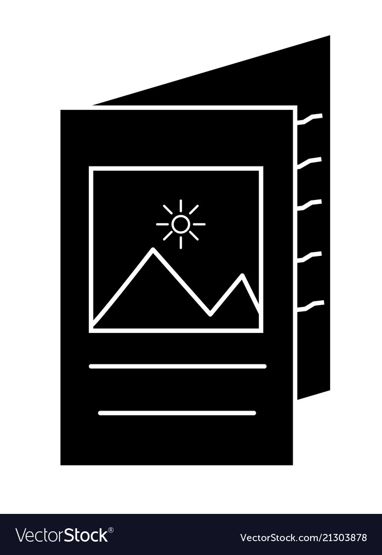 Brochure icon in trendy flat style on white